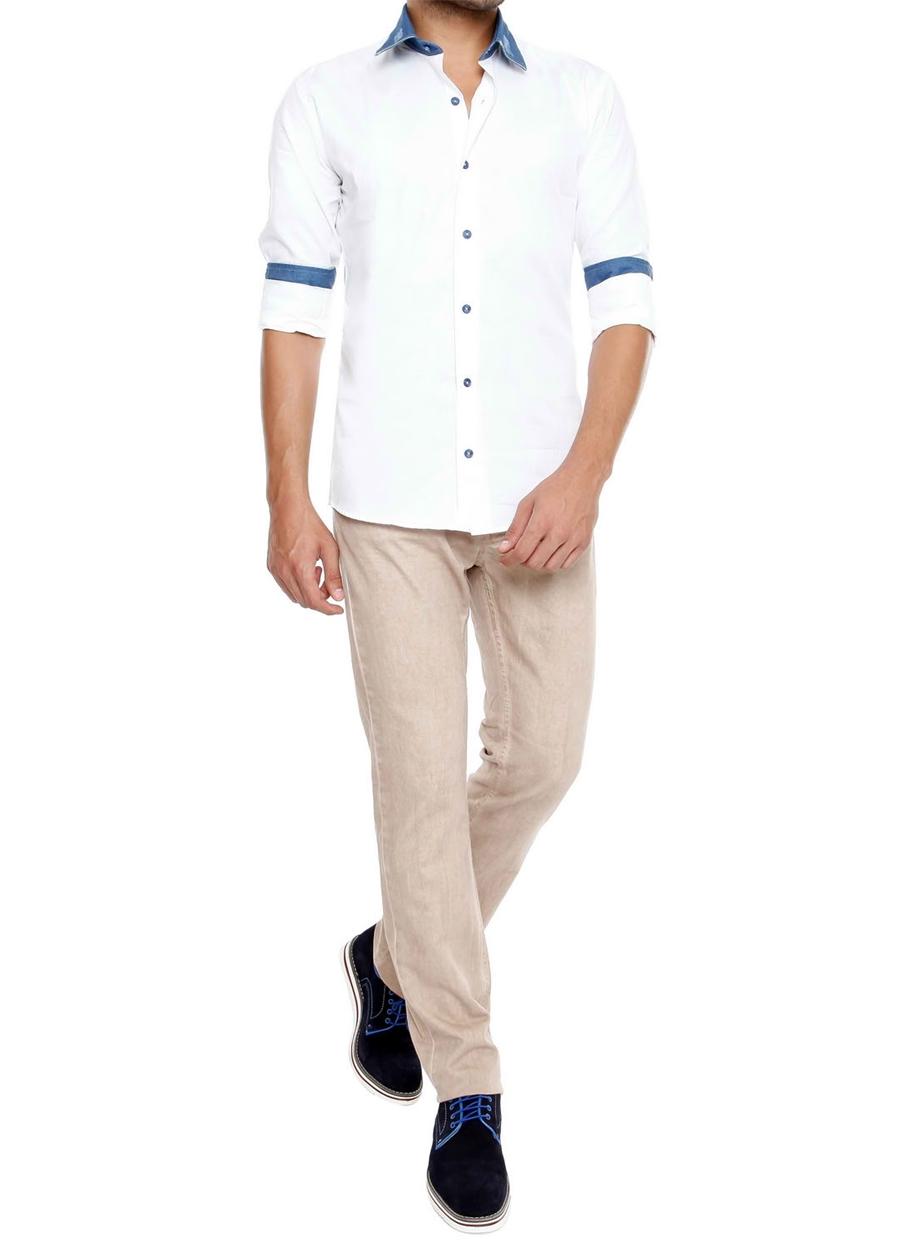 P 822 Slim Fit Taş Spor Pantolon