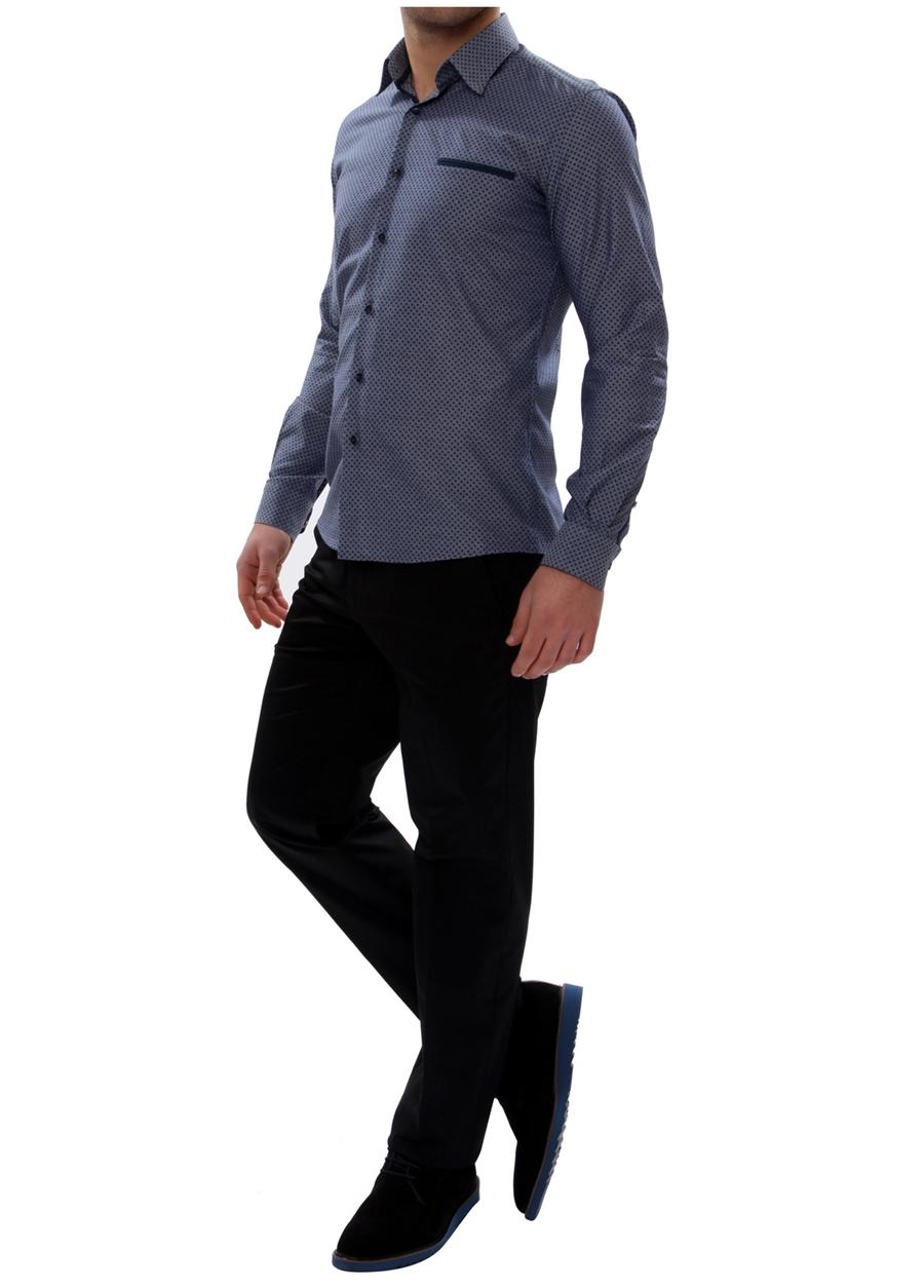 P 905 Slim Fit Siyah Spor Pantolon