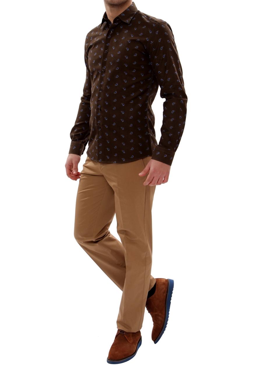 P 905 Slim Fit Camel Spor Pantolon