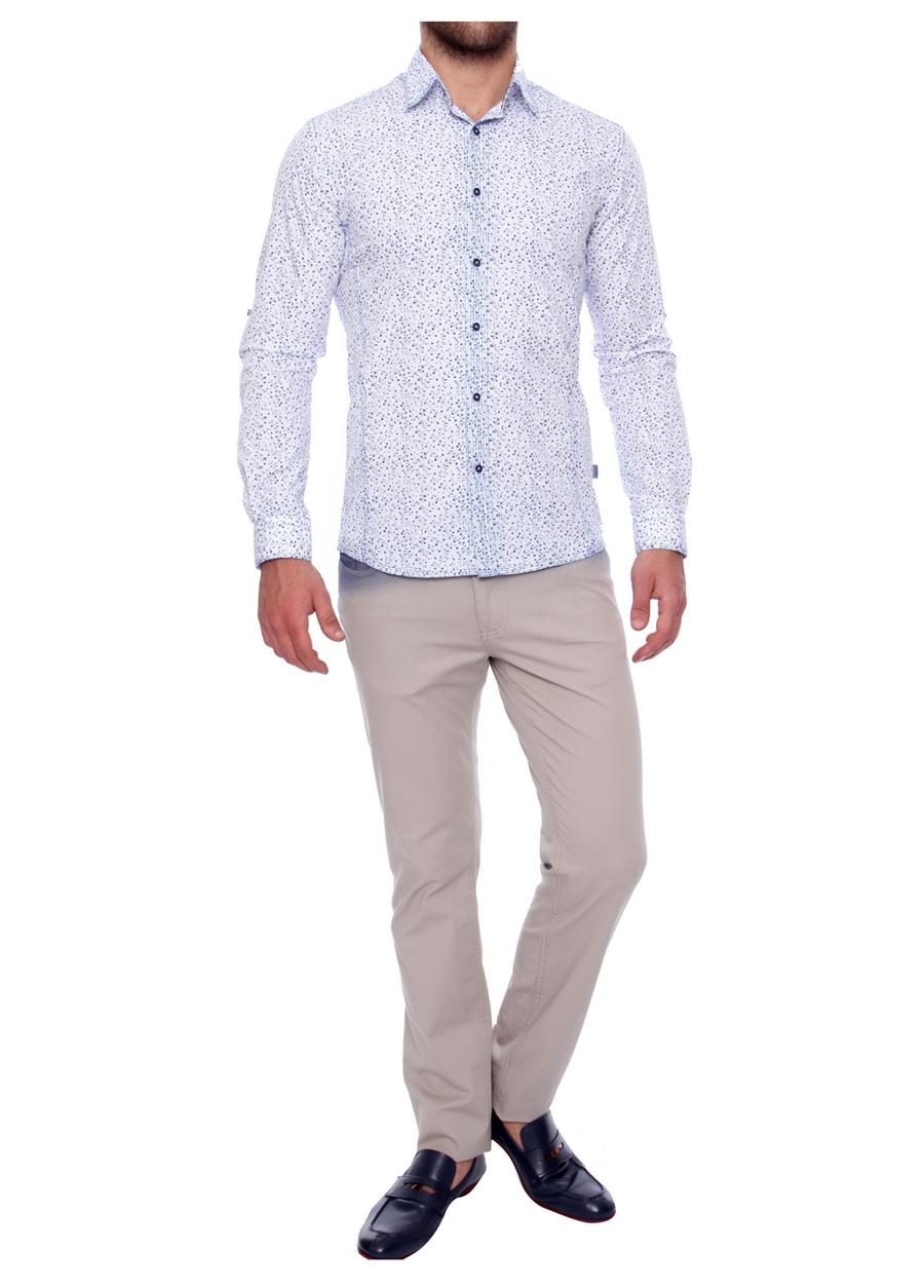 P 907 Slim Fit Taş Spor Pantolon