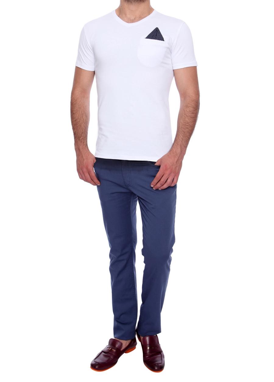 P 907 Slim Fit İndigo Spor Pantolon