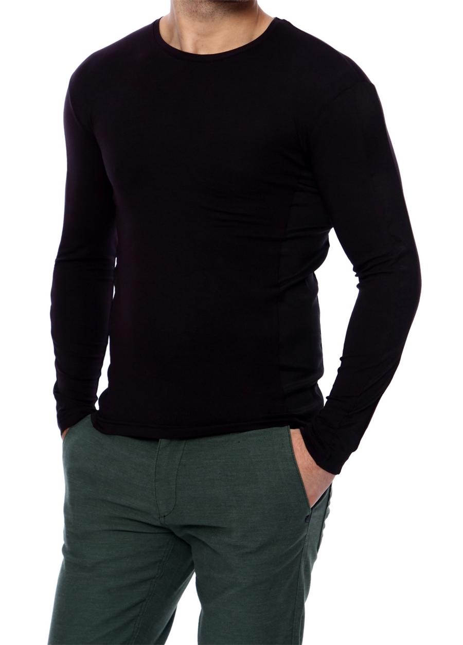 TS 625 Slim Fit Siyah Basic T-Shirt