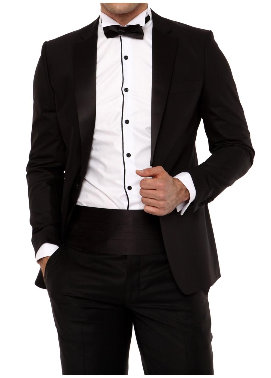 006 Slim Fit Siyah Black Ceket