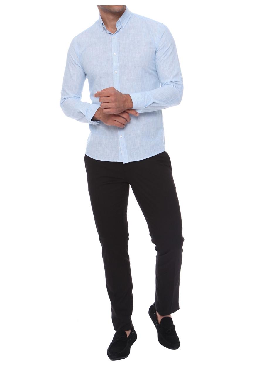 P 969 Slim Fit Siyah Spor Pantolon