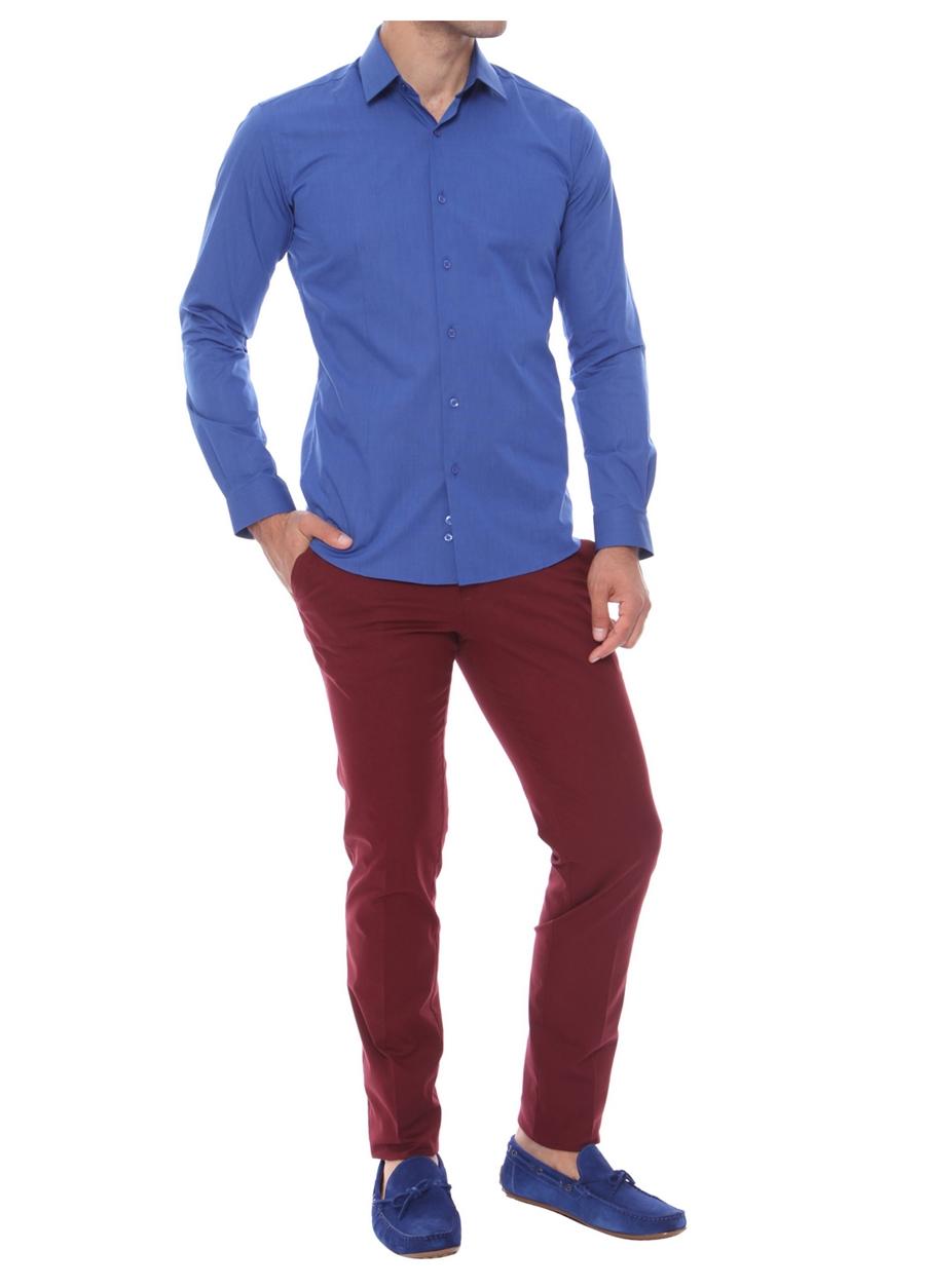 P 969 Slim Fit Bordo Spor Pantolon