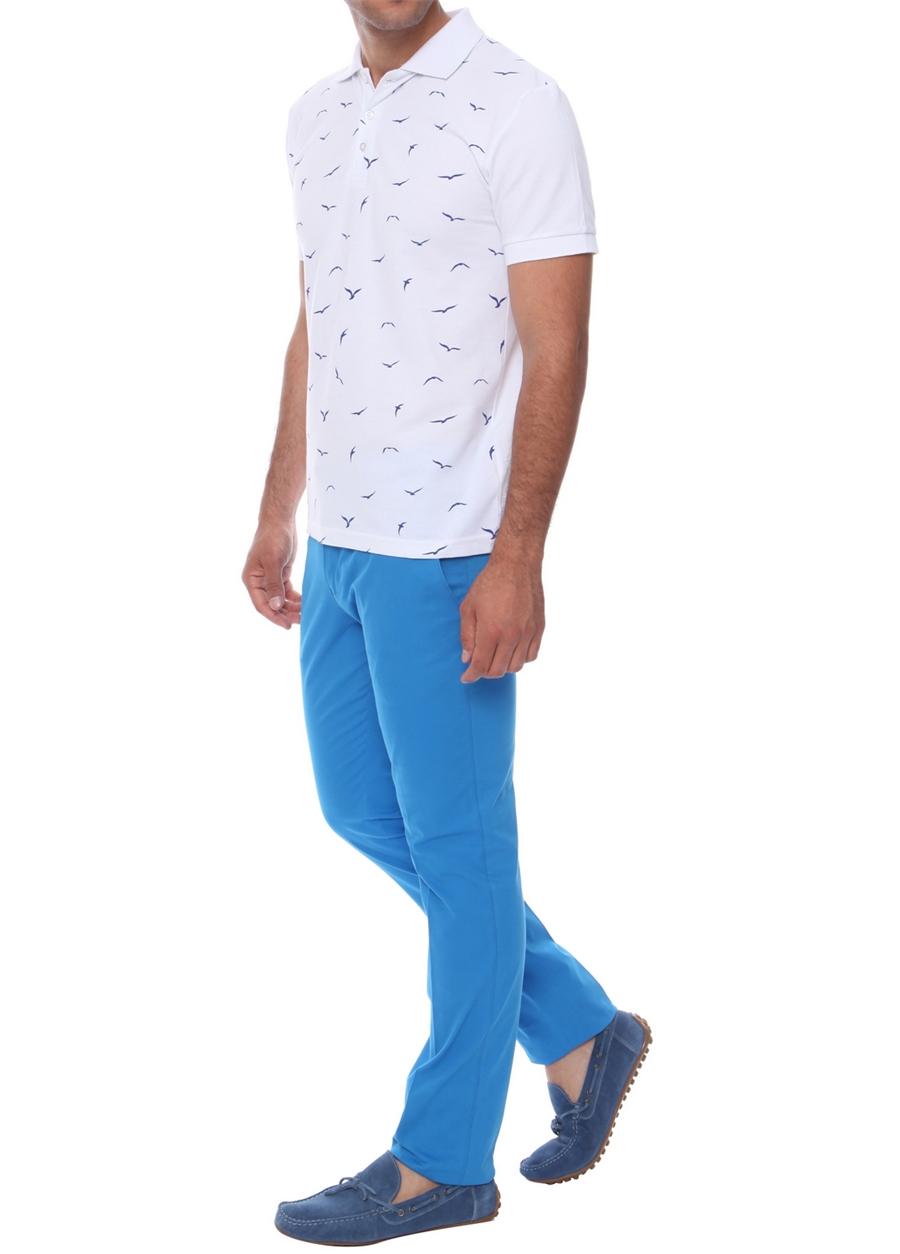P 969 Slim Fit Havacı Mavi Spor Pantolon