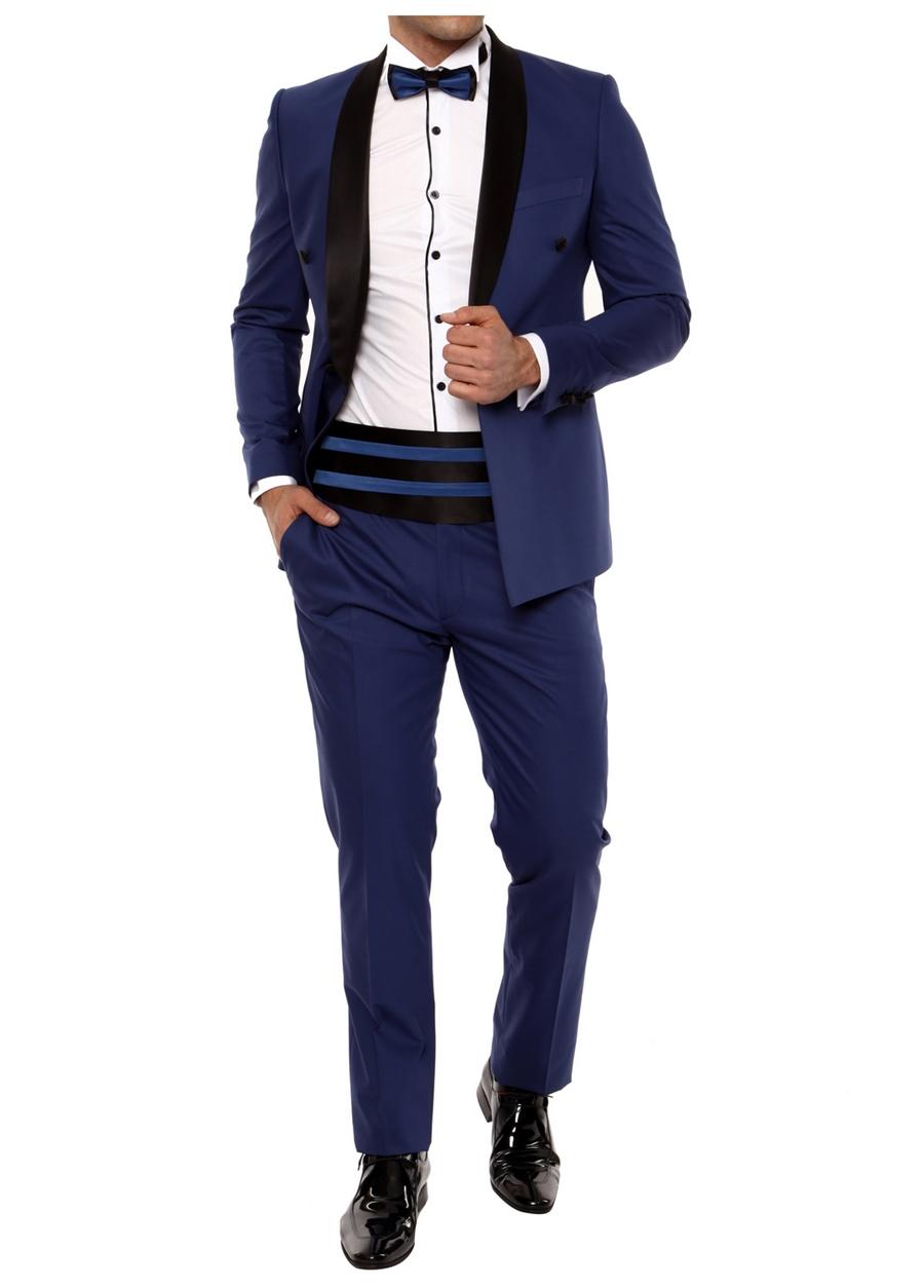 036 TAKIM Slim Fit Gece Mavisi Black Takım Elbise