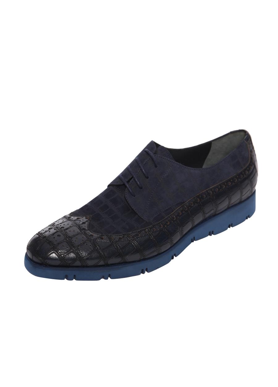 4443-1 Lacivert Klasik Ayakkabı