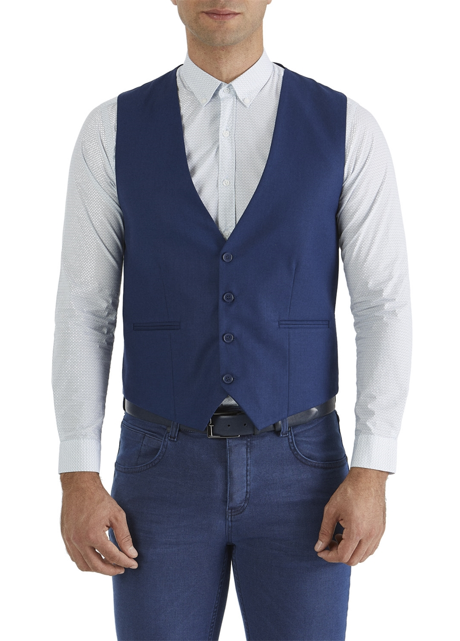 Y 102 Slim Fit Parlement Klasik Yelek