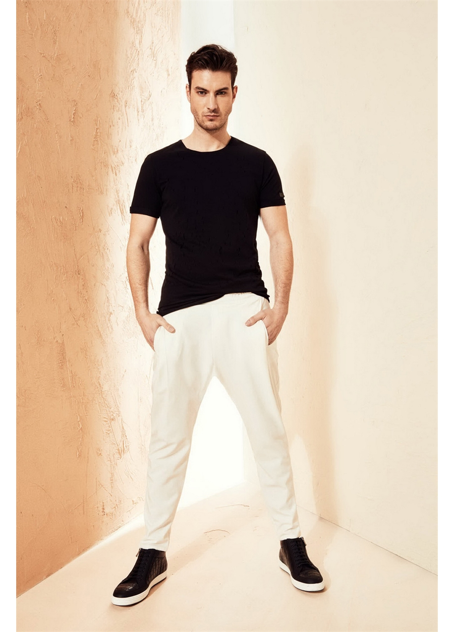 ATP 08 Slim Fit Beyaz Spor Pantolon