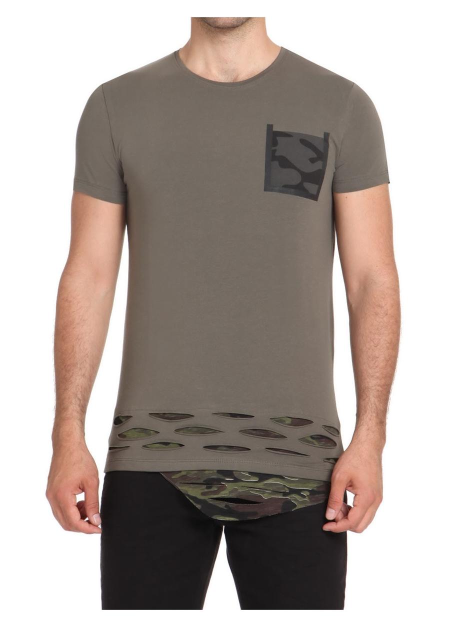 ATŞ 003 Rahat Kesim Yeşil Spor T-Shirt