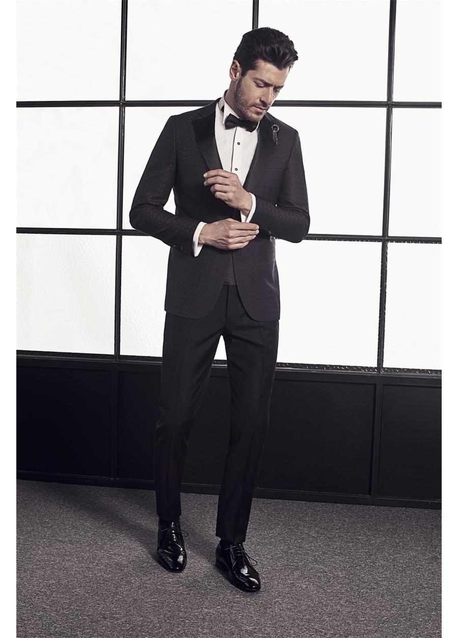 007 Slim Fit Viola Black Ceket