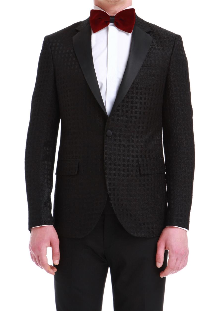025 CEKET Slim Fit Siyah Black Ceket