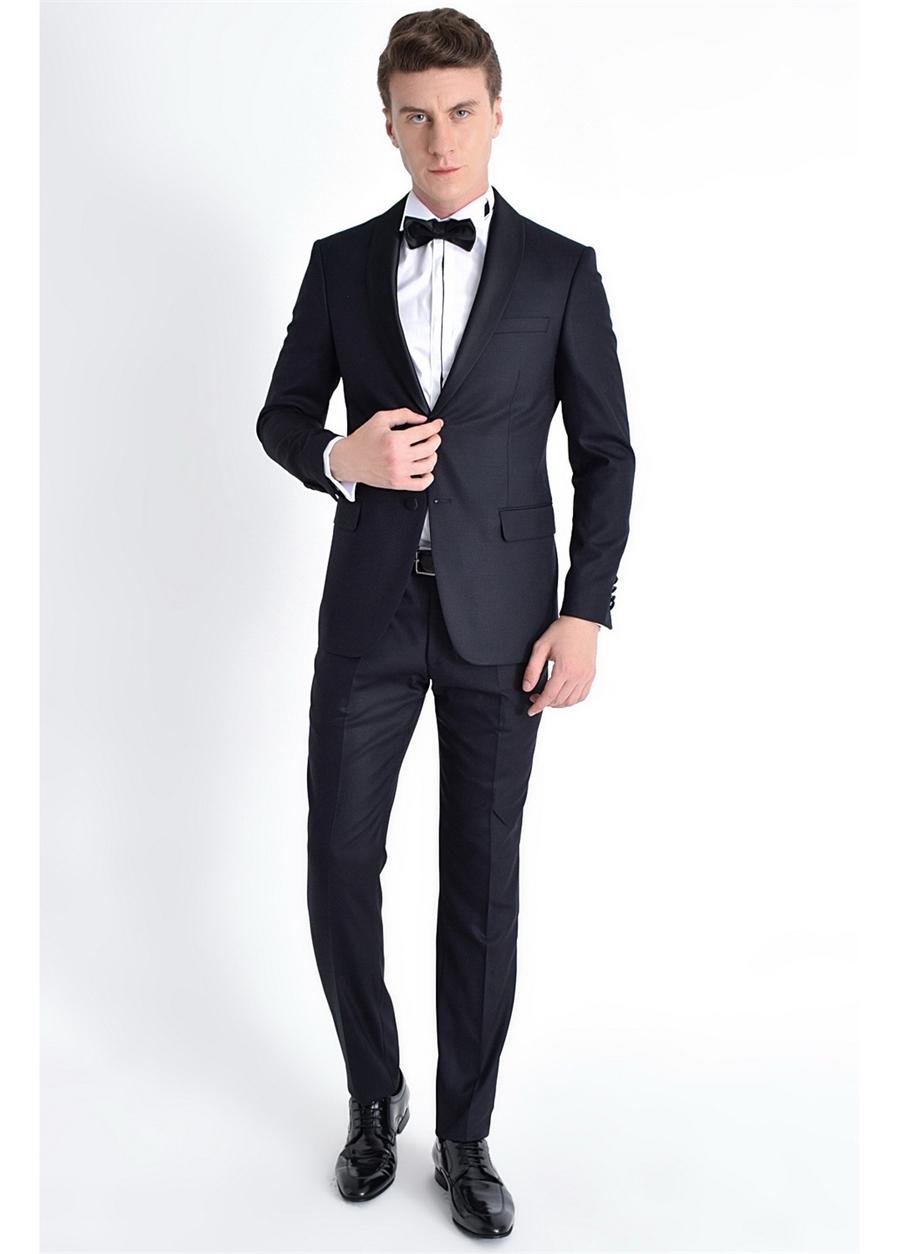 052 Slim Fit Lacivert Black Takım Elbise