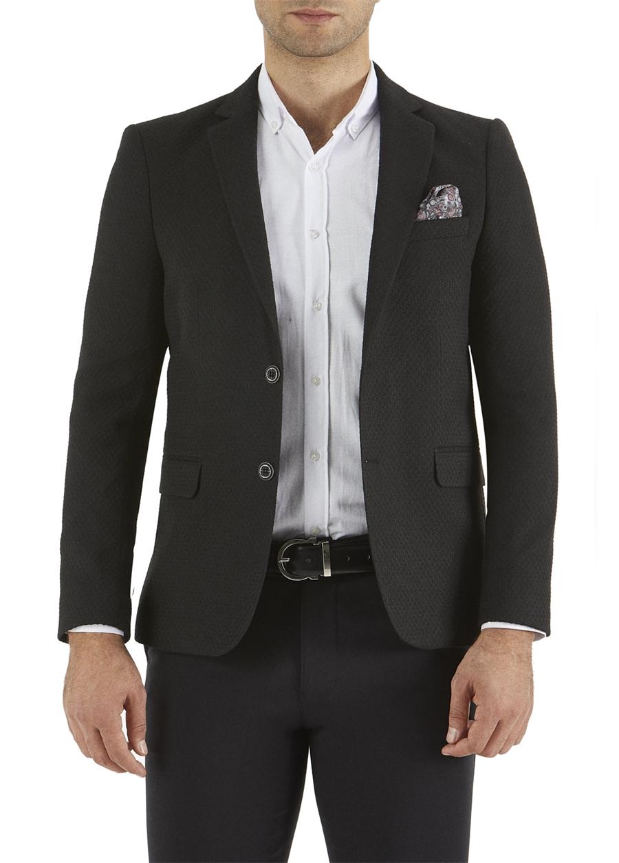 C 518 Slim Fit Siyah Spor Ceket