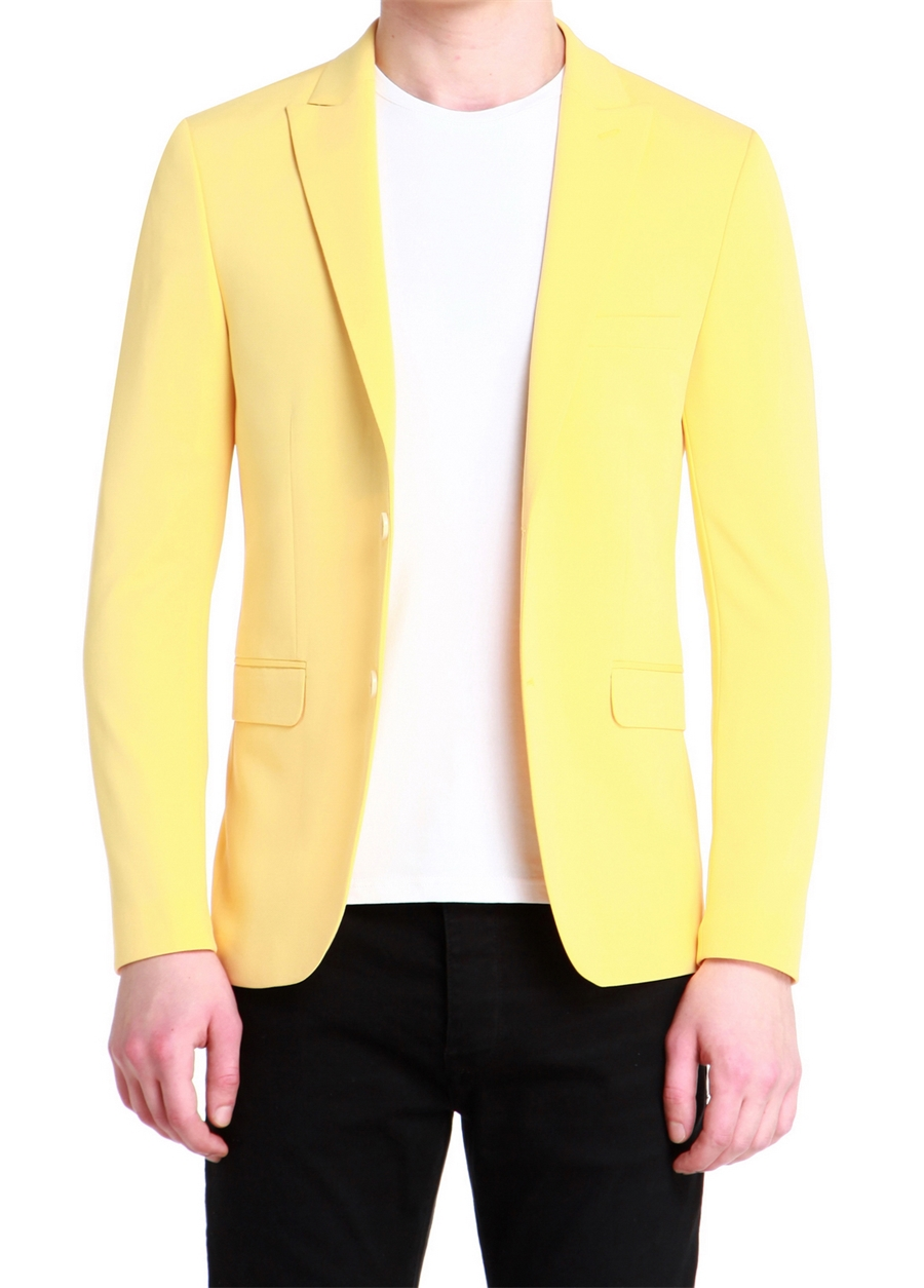 C 525 Slim Fit Sarı Spor Ceket