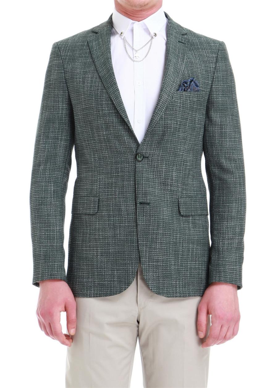 C 527 Slim Fit Yeşil Spor Ceket