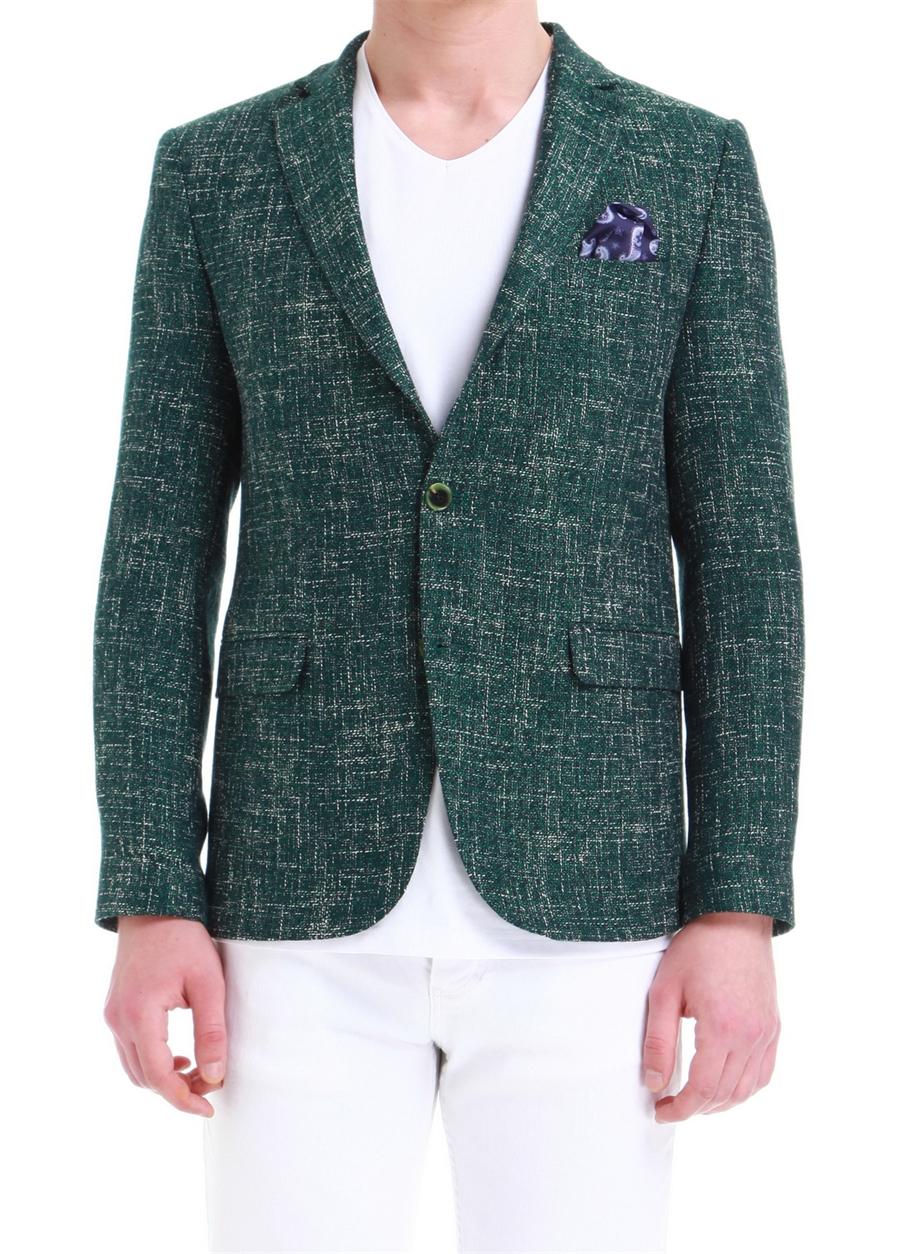 C 533 Slim Fit Yeşil Spor Ceket