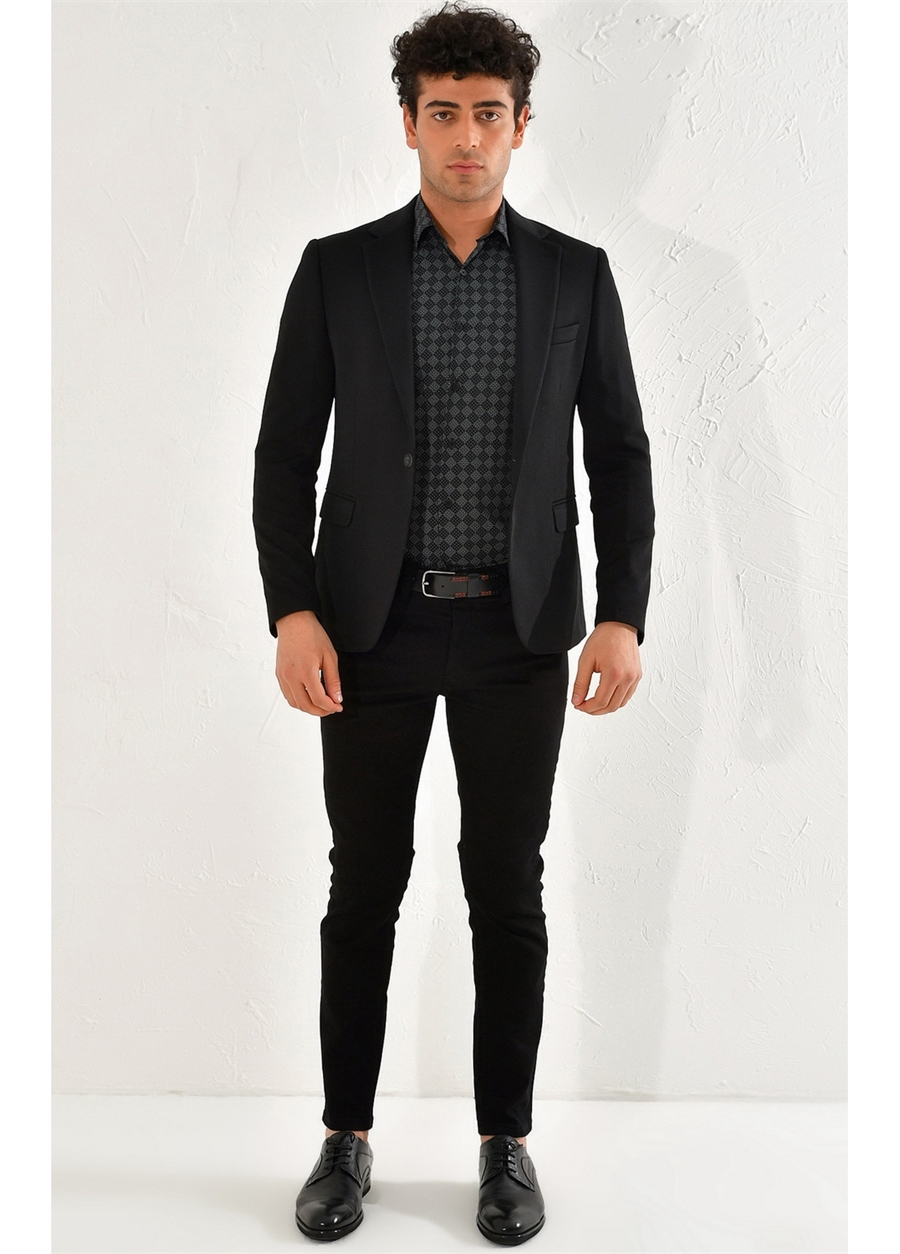 C 560 Slim Fit Siyah Spor Ceket