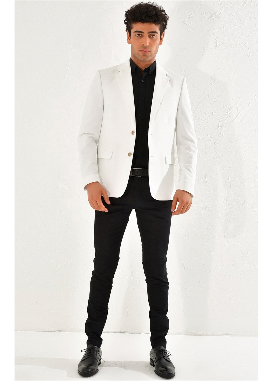 C 560 Slim Fit Beyaz Spor Ceket