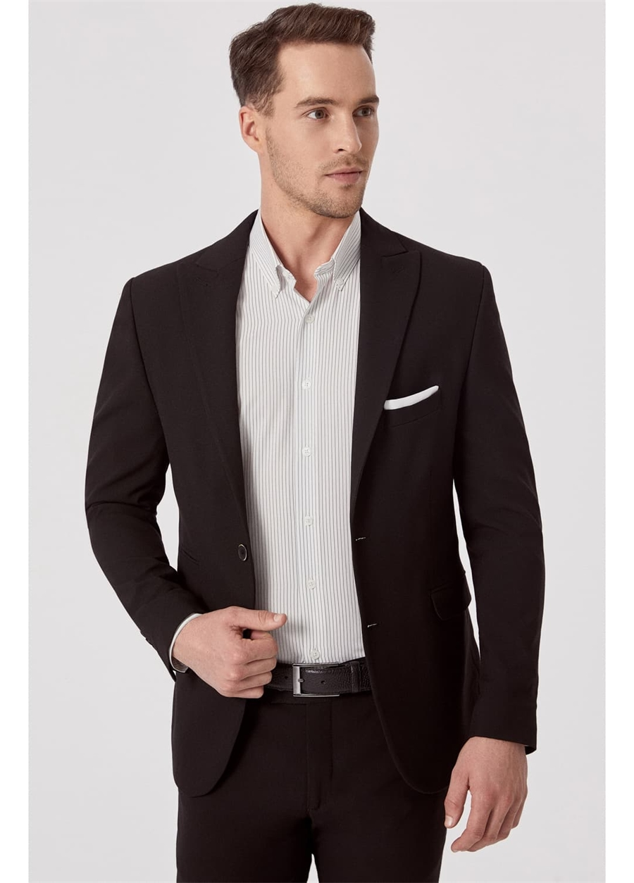 C 576 Slim Fit Siyah Spor Ceket