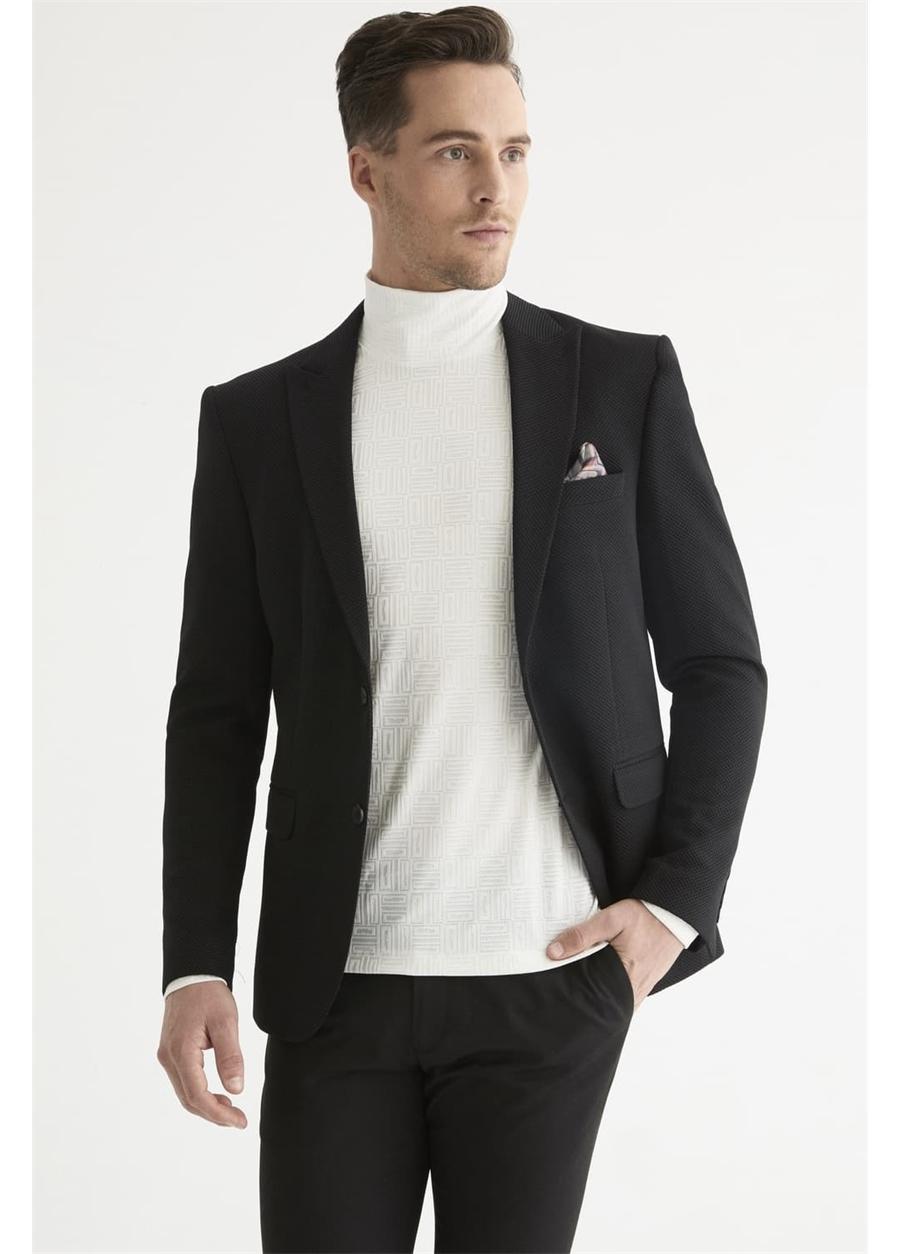 C 577 Slim Fit Siyah Spor Ceket