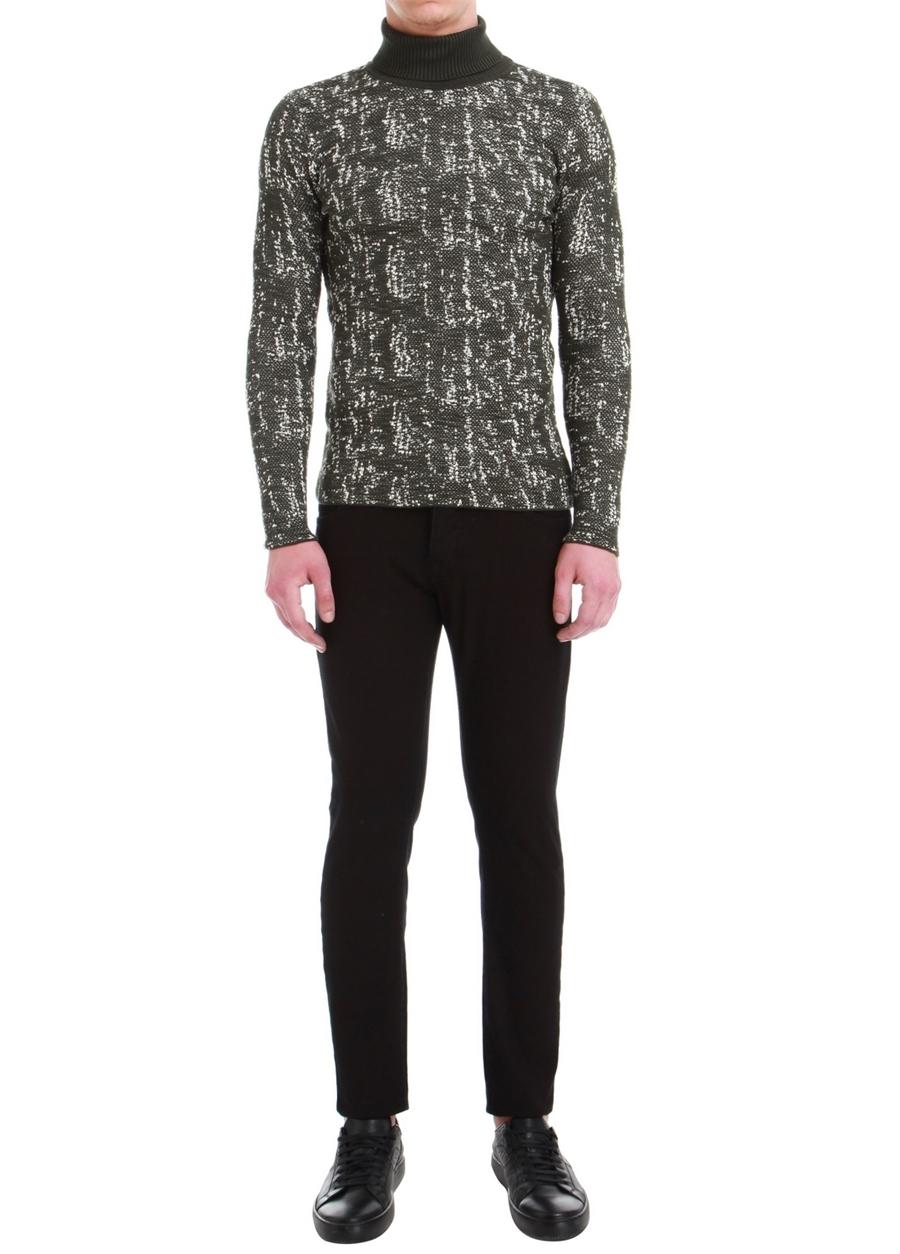 040 Slim Fit Siyah Spor Pantolon
