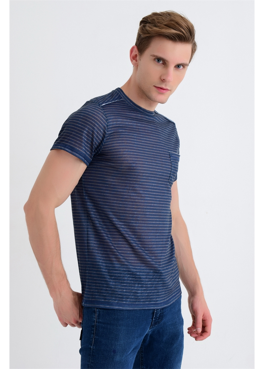 ETS 009 Slim Fit Lacivert Spor T-Shirt