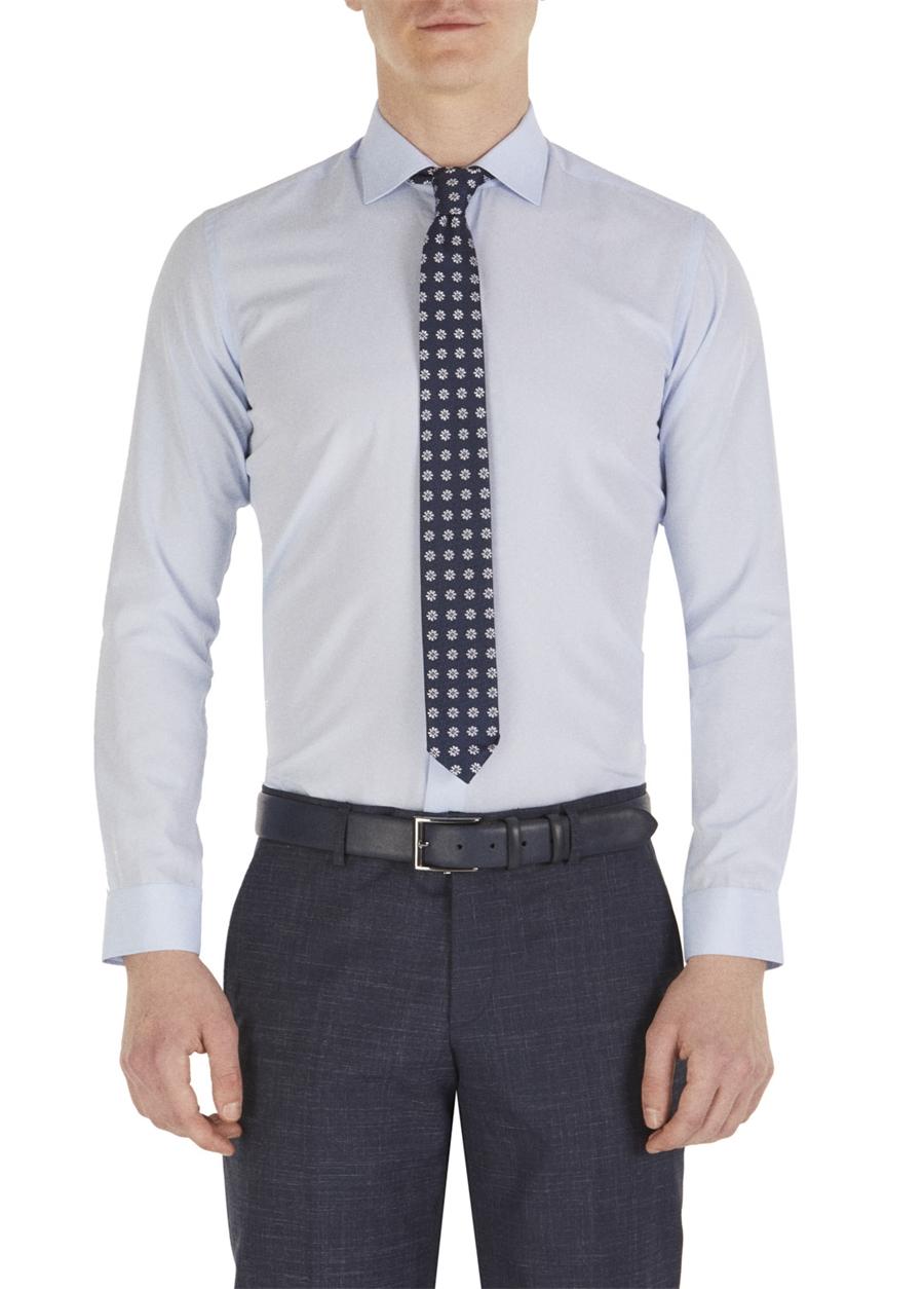 GK 520 Slim Fit Mavi Klasik Gömlek