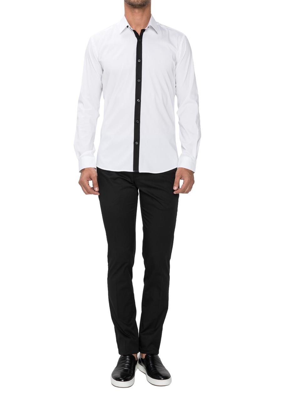P 1021 Slim Fit Siyah Spor Pantolon