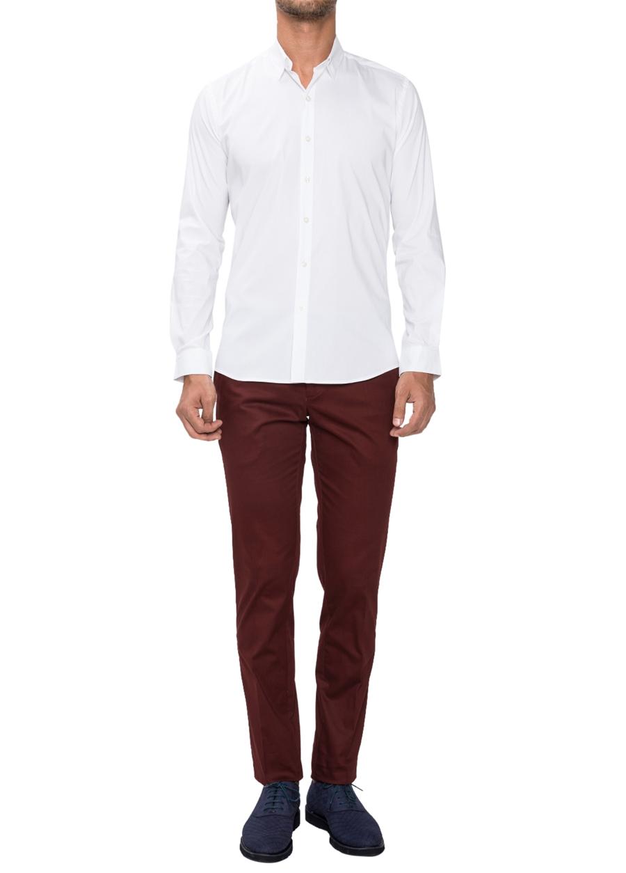 P 1021 Slim Fit Bordo Spor Pantolon