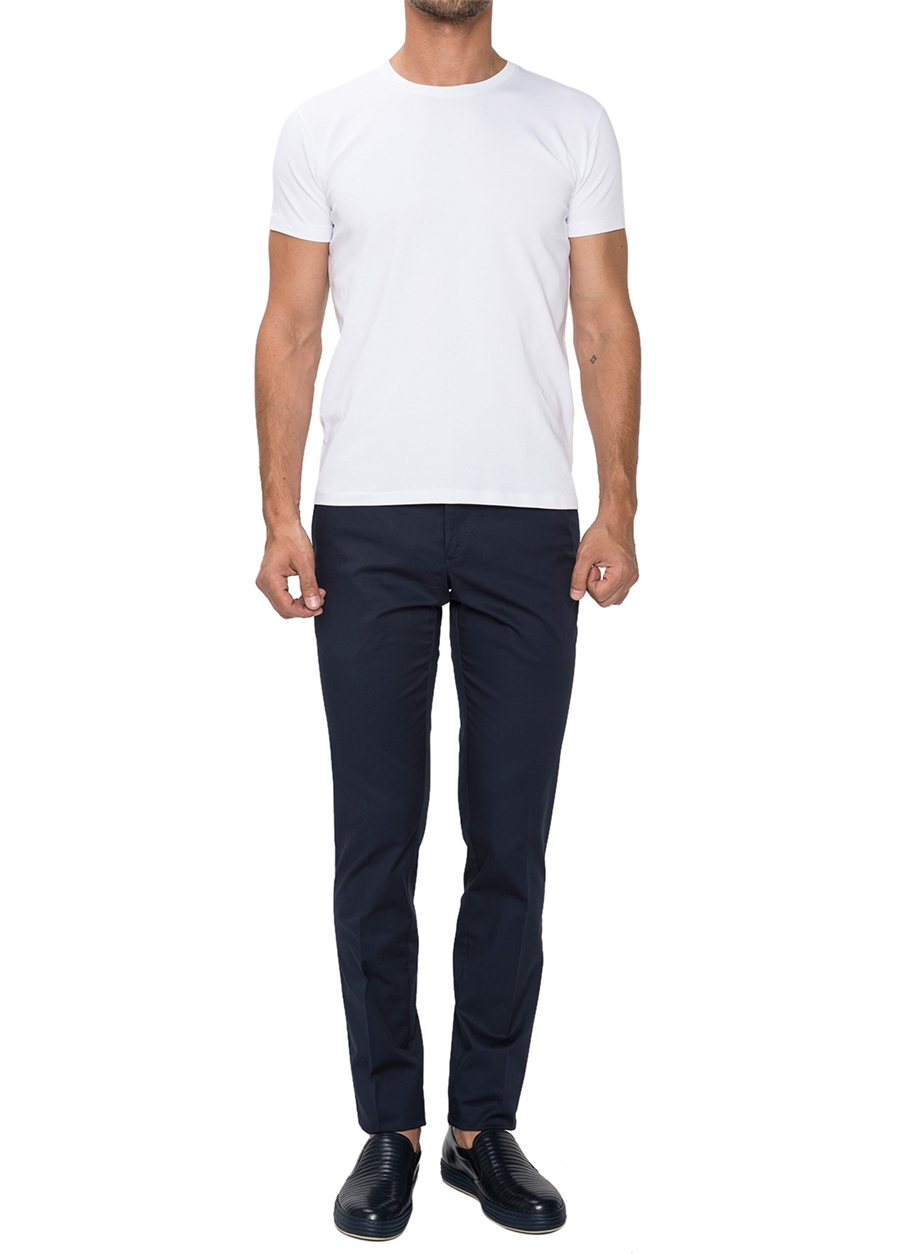 P 1021 Slim Fit Lacivert Spor Pantolon