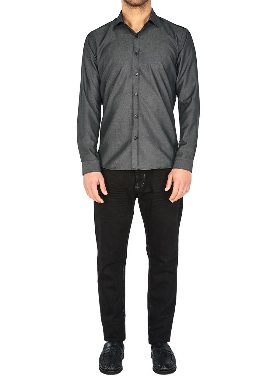 P 1026 Slim Fit Siyah Spor Pantolon