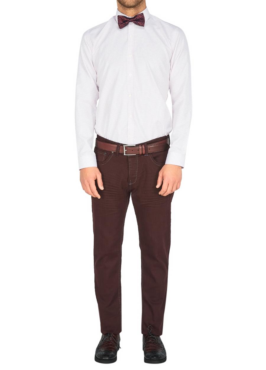 P 1026 Slim Fit Bordo Spor Pantolon