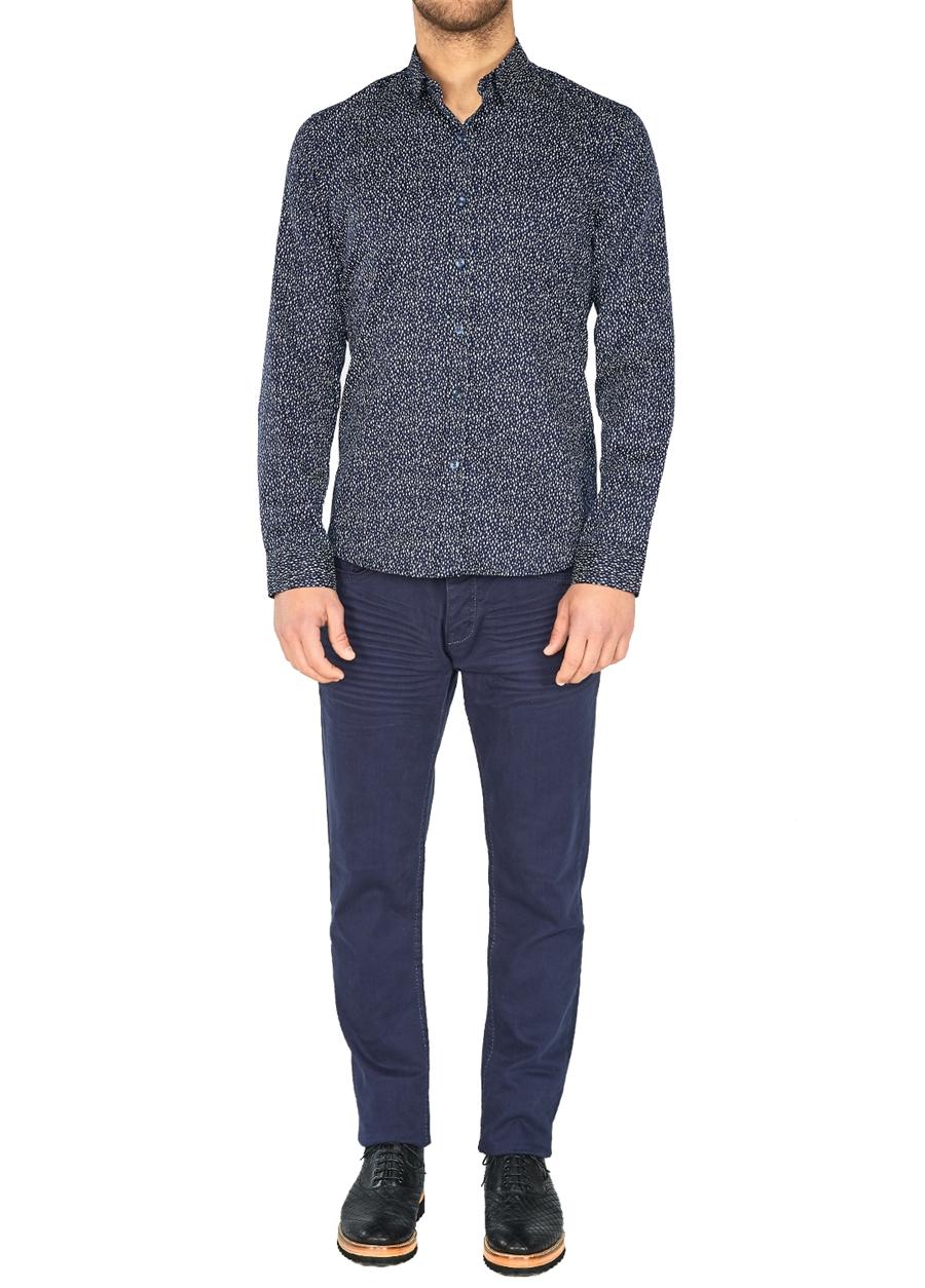 P 1026 Slim Fit Lacivert Spor Pantolon