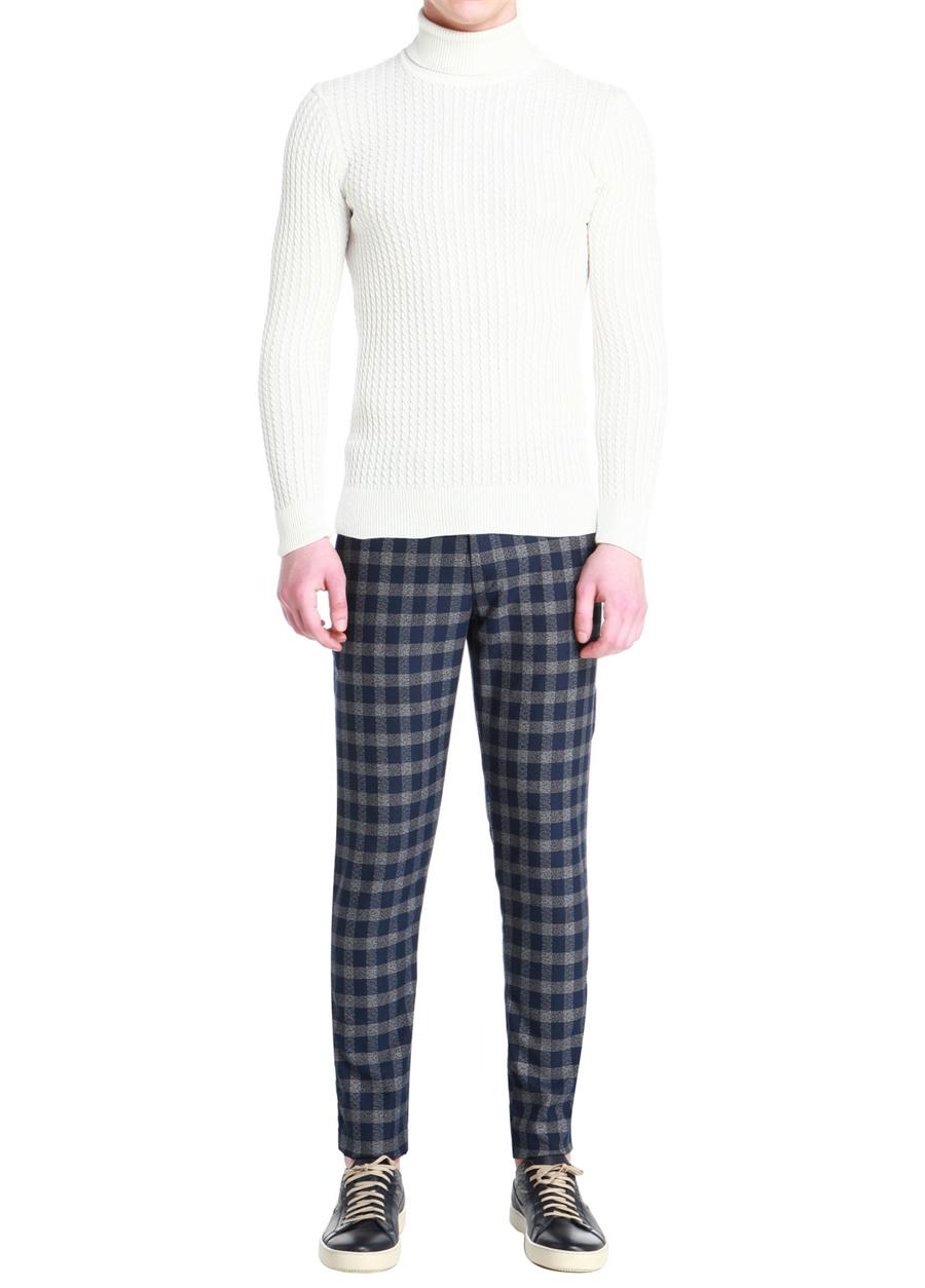 P 1055 Skınny Lacivert Spor Pantolon
