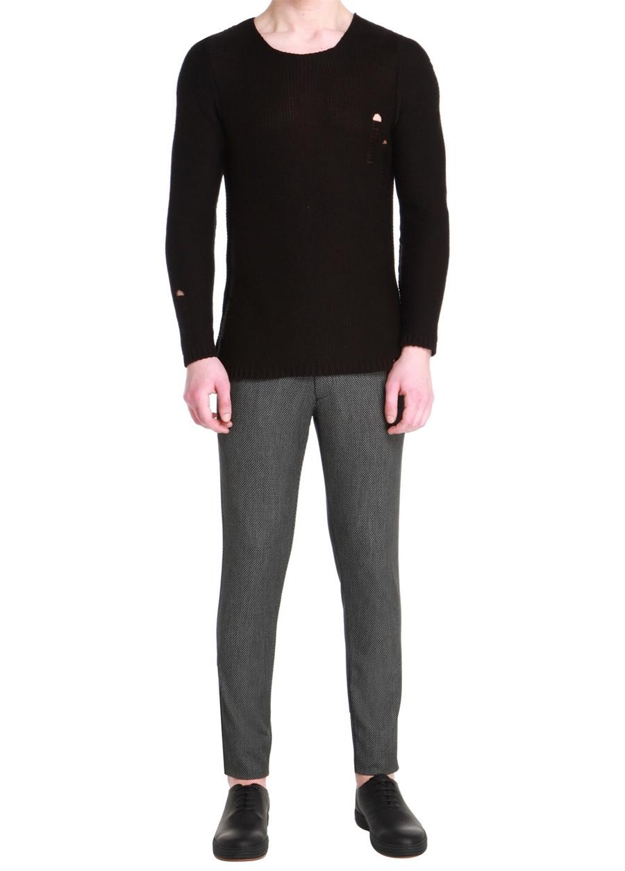 P 1057 Skınny Siyah Spor Pantolon