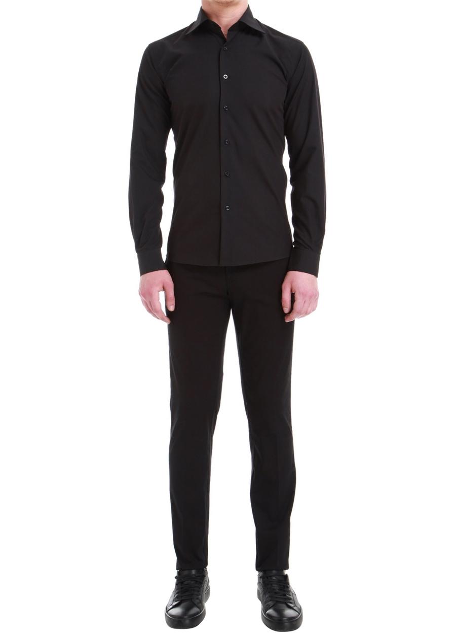 P 1058 Slim Fit Siyah Spor Pantolon