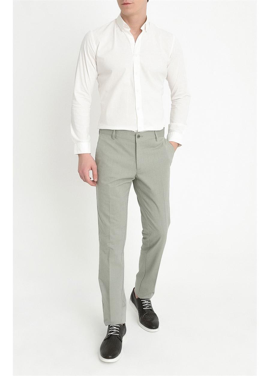 P 1059 Slim Fit Yeşil Spor Pantolon