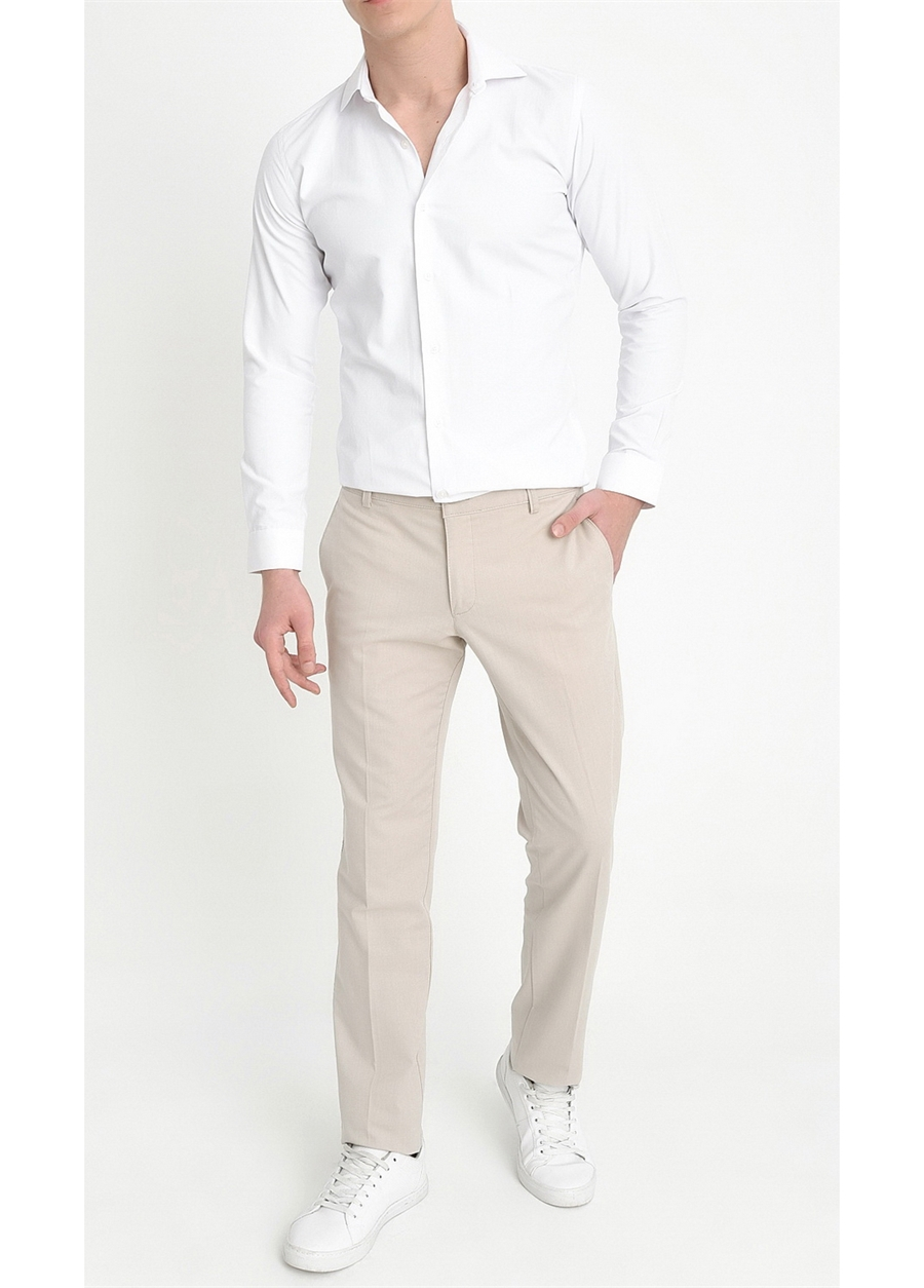 P 1059 Slim Fit Taş Spor Pantolon
