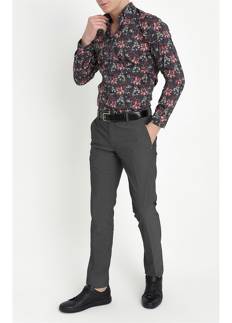 P 1063 Slim Fit Siyah Spor Pantolon