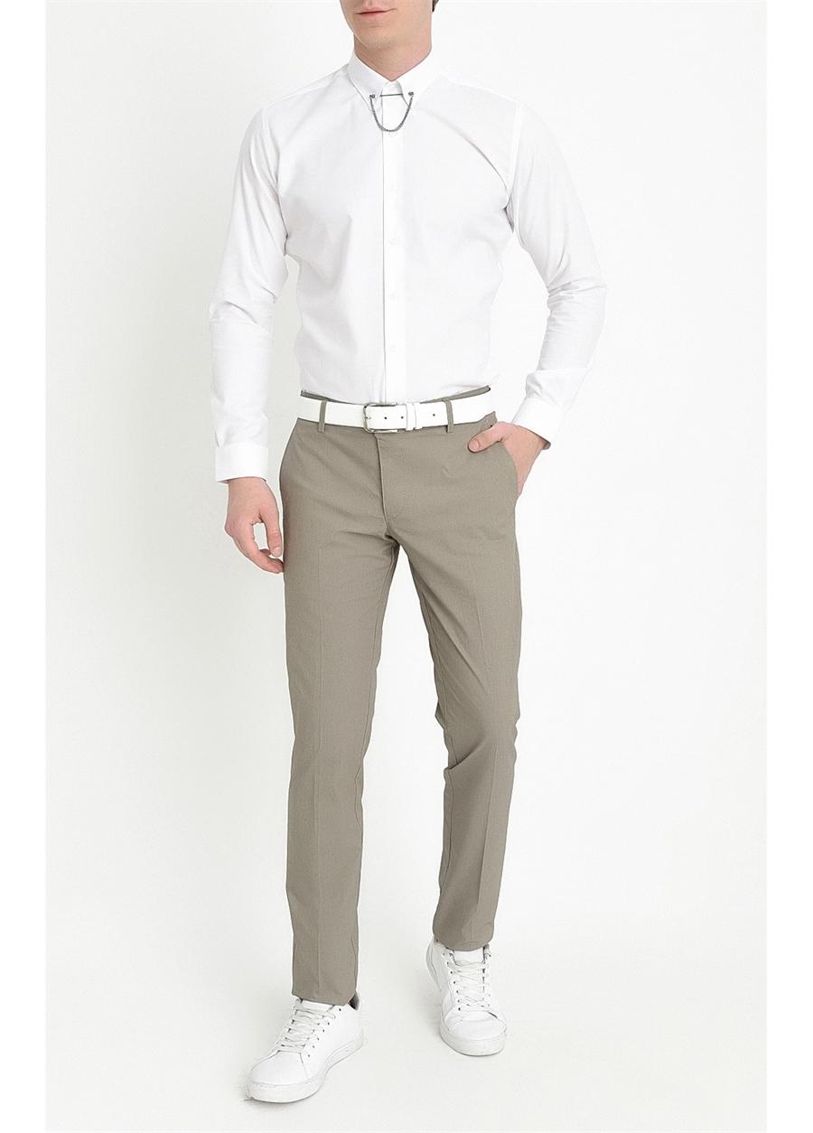 P 1063 Slim Fit Haki Spor Pantolon