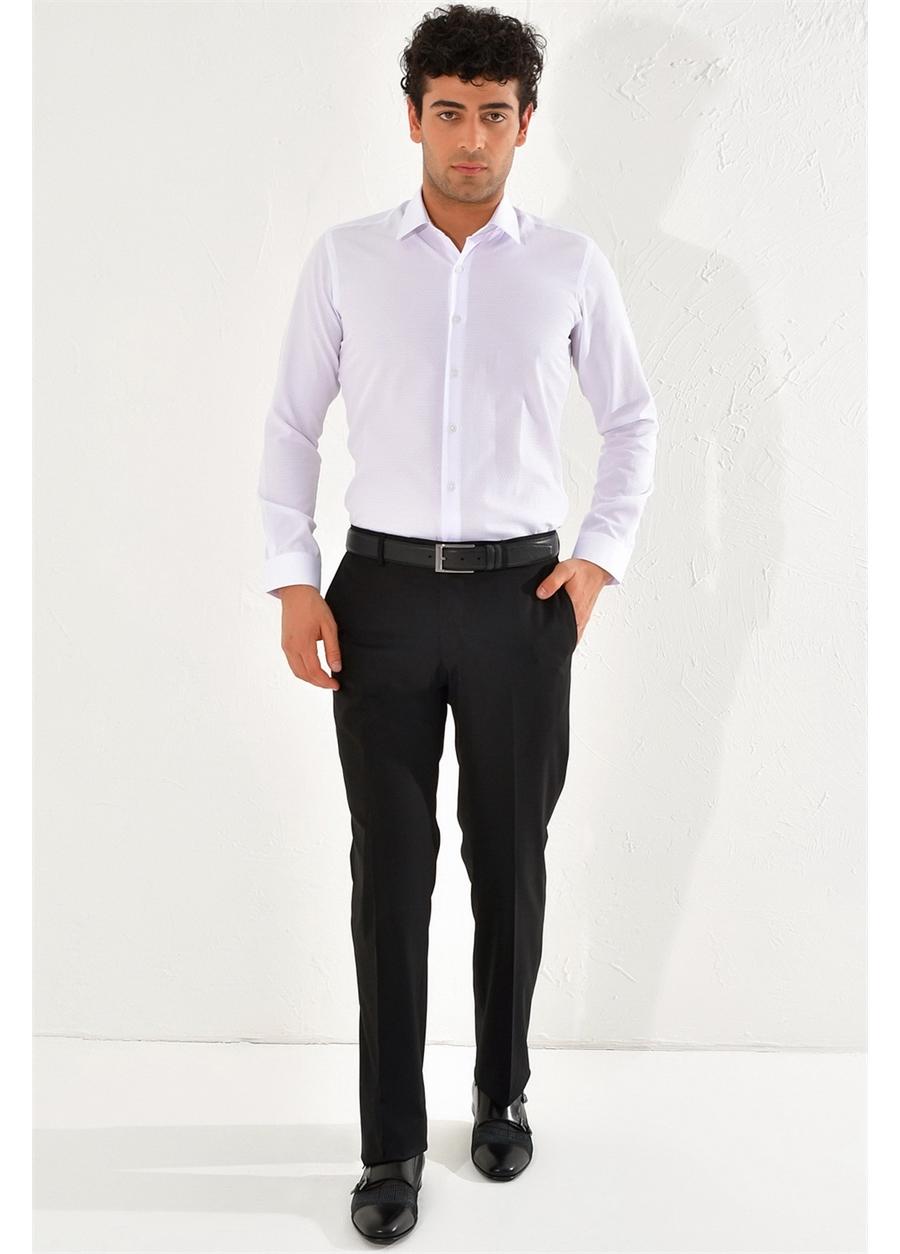 P 1067 REGULAR Regular Siyah Klasik Pantolon