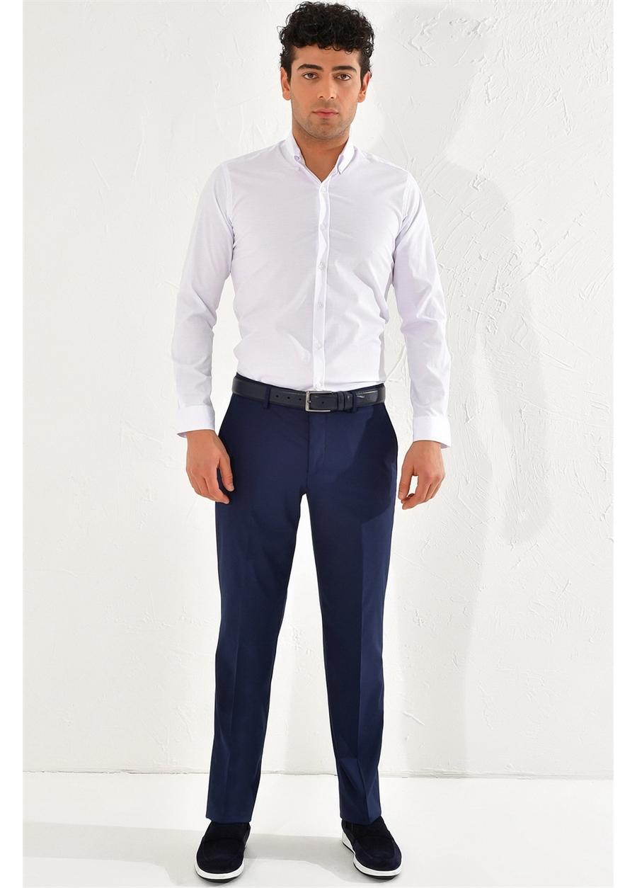 P 1067 REGULAR Regular Lacivert Klasik Pantolon