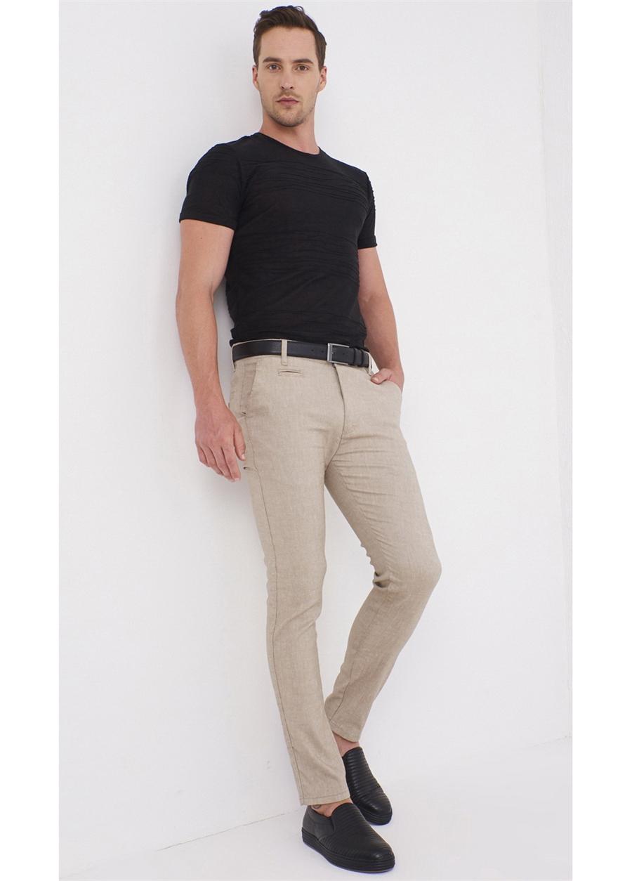 P 1069 Slim Fit Bej Spor Pantolon
