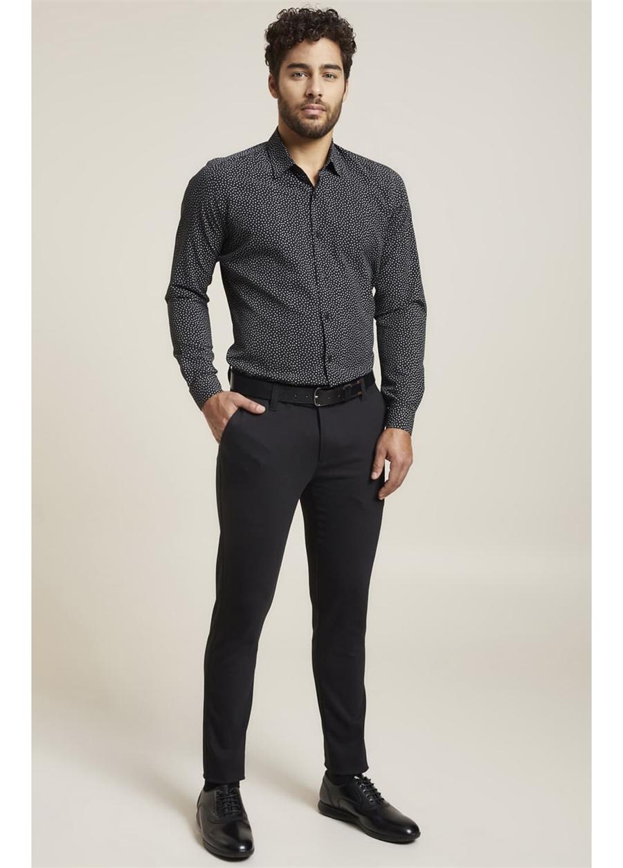 P 1071 Slim Fit Siyah Spor Pantolon