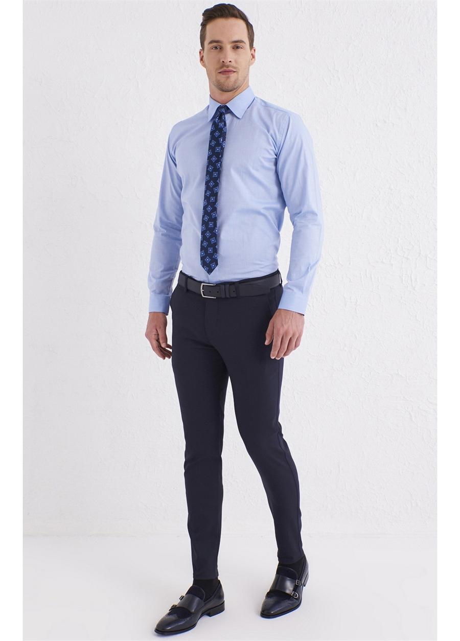 P 1071 Slim Fit Lacivert Spor Pantolon