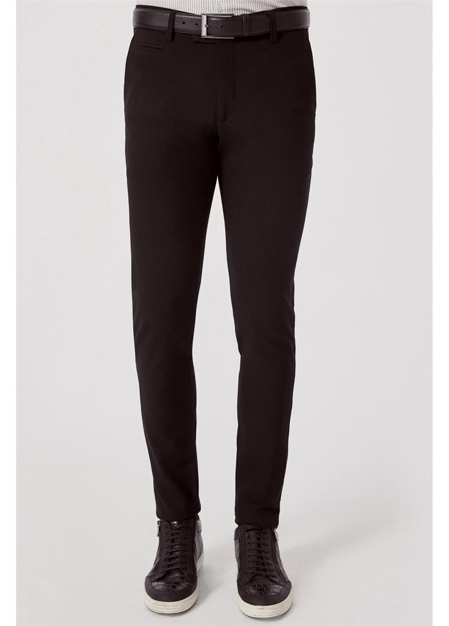 P 1074 Slim Fit Siyah Spor Pantolon