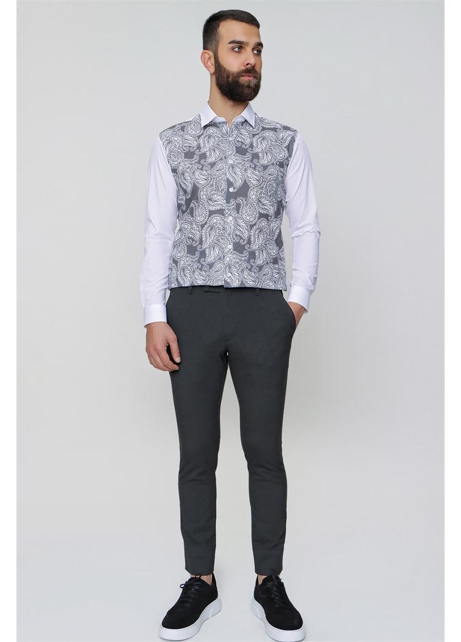 P 1074 Slim Fit Antrasit Spor Pantolon