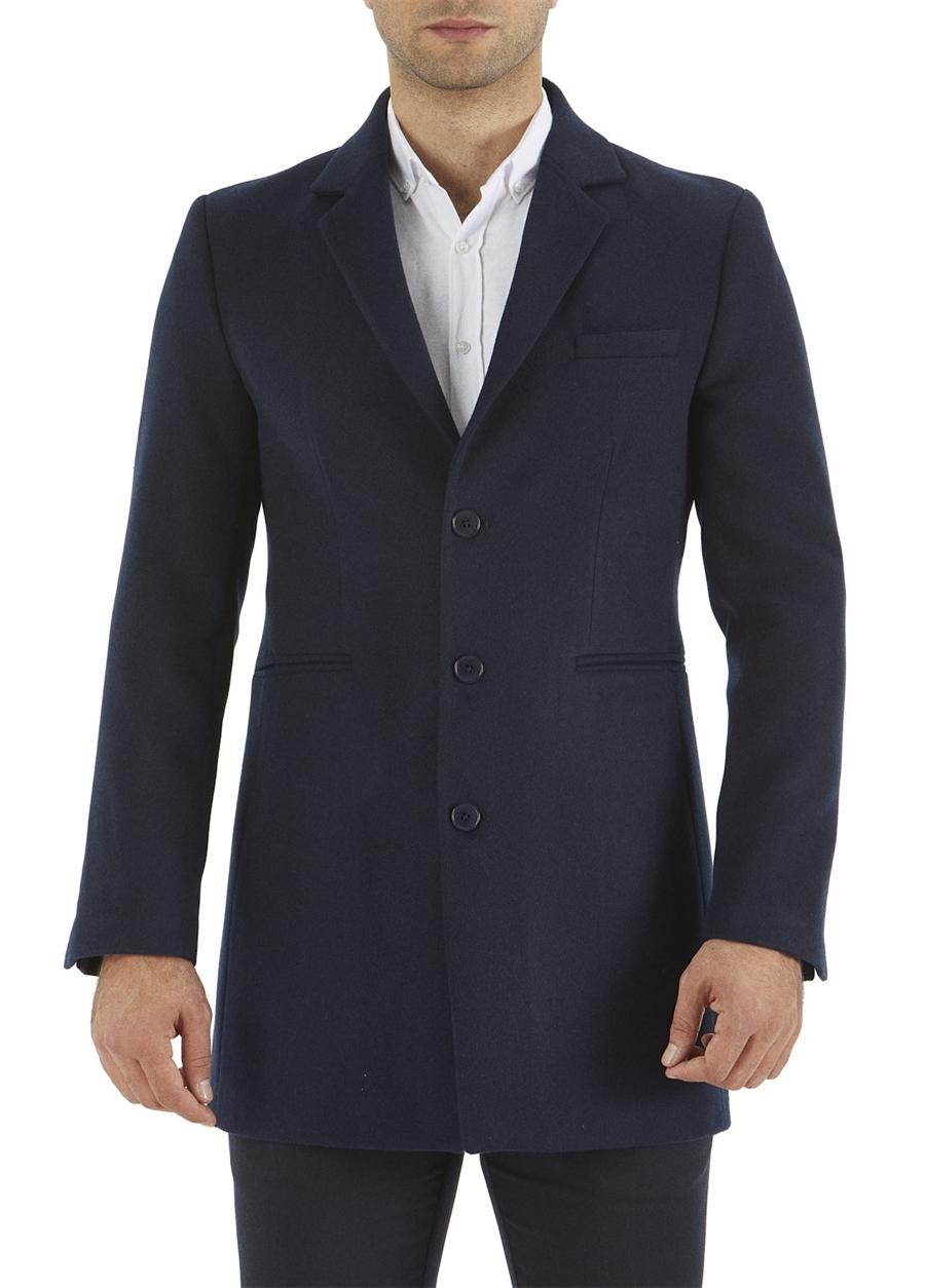 PLT 059 Slim Fit Lacivert Spor Palto